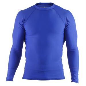 Clinch Gear Basic Blue Rashguard - Long Sleeve